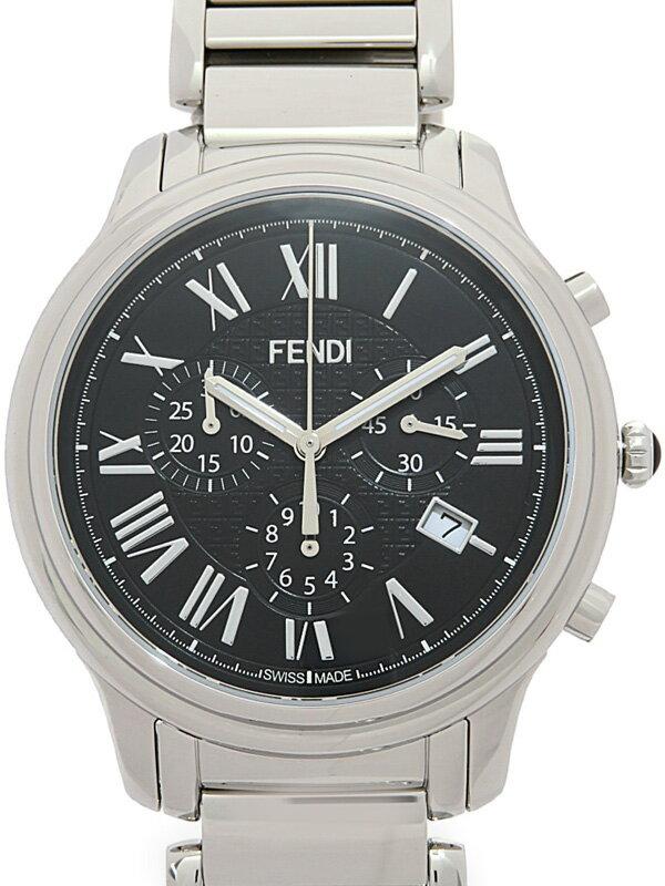 【FENDI】【美品】フェンディ『クラシコ 42mm クロノグラフ』F252011000 メンズ クォーツ 1ヶ月保証【中古】
