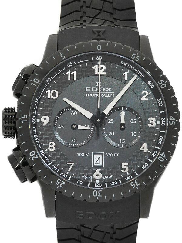 【EDOX】【電池交換済】エドックス『クロノラリー1 クロノグラフ』10305-37N-NN メンズ クォーツ 1ヶ月保証【中古】