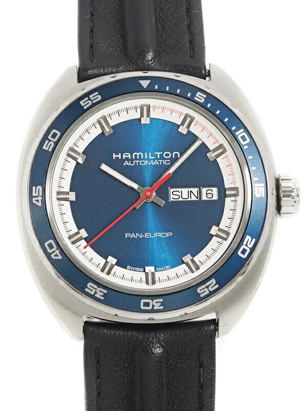 【HAMILTON】【裏スケ】ハミルトン『パンユーロ』H35405741 メンズ 自動巻き 1週間保証【中古】