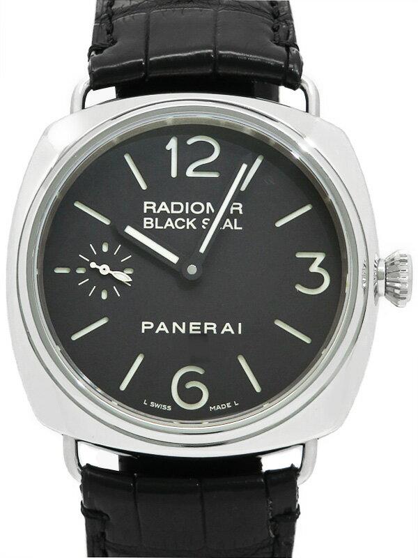 【PANERAI】【裏スケ】パネライ『ラジオミール ブラックシール』PAM00183 J番'07年製 メンズ 手巻き 6ヶ月保証【中古】