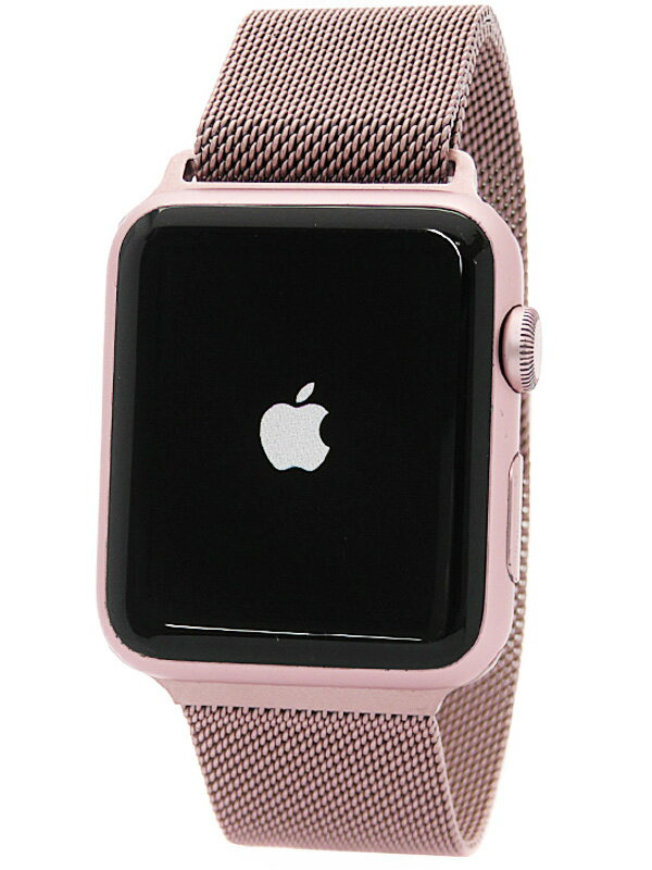 【Apple】【アップルウォッチ】アップル『Apple Watch Sport 42mm ローズゴールドアルミニウムケース』MLC62J/A メンズ スマートウォッチ 1週間保証【中古】