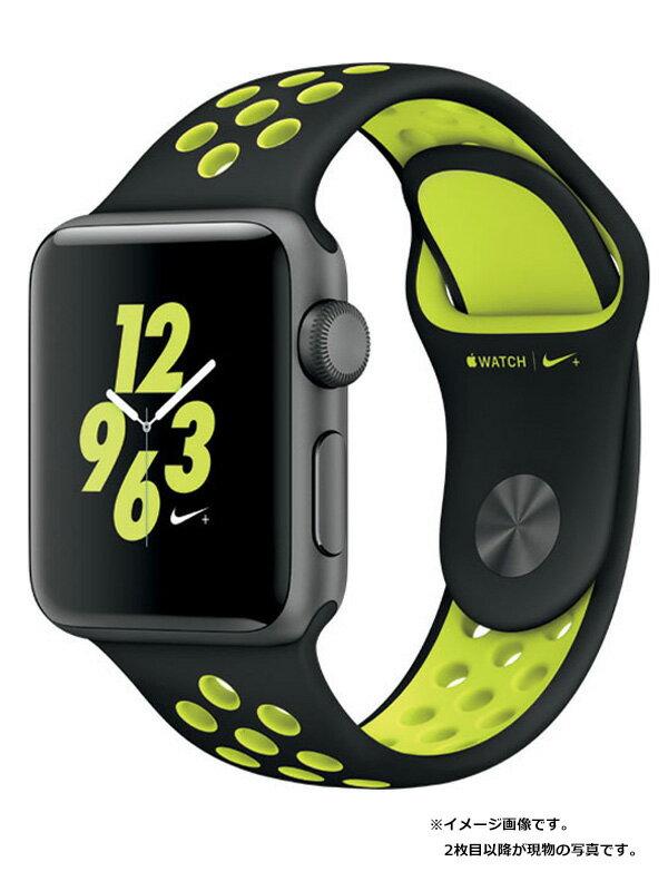 【Apple】【アップルウォッチ】アップル『Apple Watch Series2 Nike+ 38mm ブラック/ボルト』MP0J2J/A ボーイズ スマートウォッチ 1週間保証【中古】