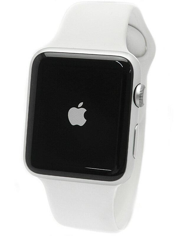 【Apple】【アップルウォッチ】アップル『Apple Watch Sport 42mm ホワイトスポーツバンド』MJ3N2J/A メンズ スマートウォッチ 1週間保証【中古】