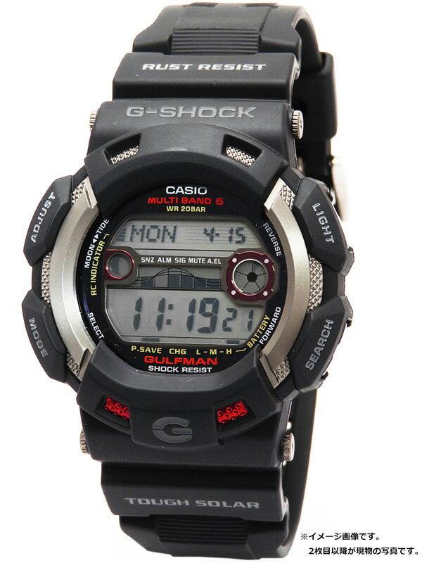 【CASIO】【G-SHOCK】カシオ『Gショック ガルフマン』GW-9110-1 メンズ ソーラー電波クォーツ 1週間保証【中古】