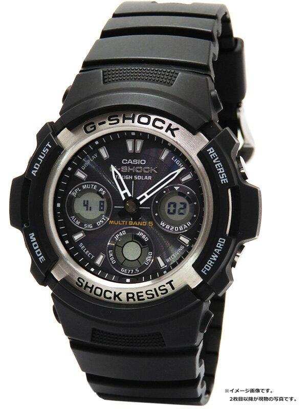 【CASIO】【G-SHOCK】カシオ『Gショック』AWG-100-1A メンズ ソーラー電波クォーツ 1週間保証【中古】