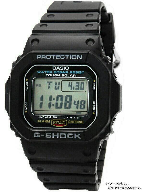 【CASIO】【G-SHOCK】カシオ『Gショック』G-5600E-1 ボーイズ ソーラークォーツ 1週間保証【中古】