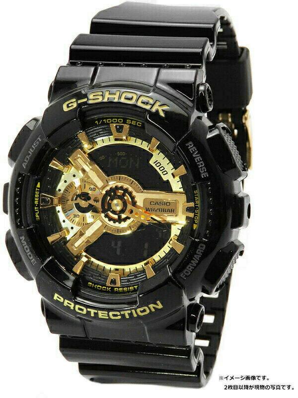 【CASIO】【G-SHOCK】カシオ『Gショック ブラック×ゴールドシリーズ』GA-110GB-1A メンズ クォーツ 1週間保証【中古】