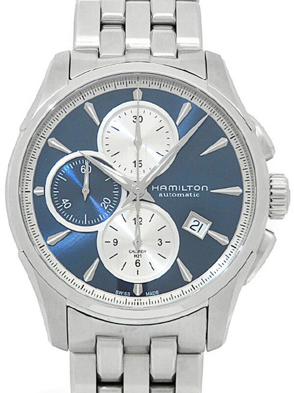 【HAMILTON】【裏スケ】【'19年購入】ハミルトン『ジャズマスター オートマティック クロノグラフ』H32596141 メンズ 自動巻き 1ヶ月保証【中古】