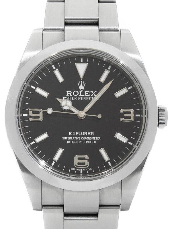 【ROLEX】【'13年購入】ロレックス『エクスプローラー1』214270 ランダム番 メンズ 自動巻き 12ヶ月保証【中古】