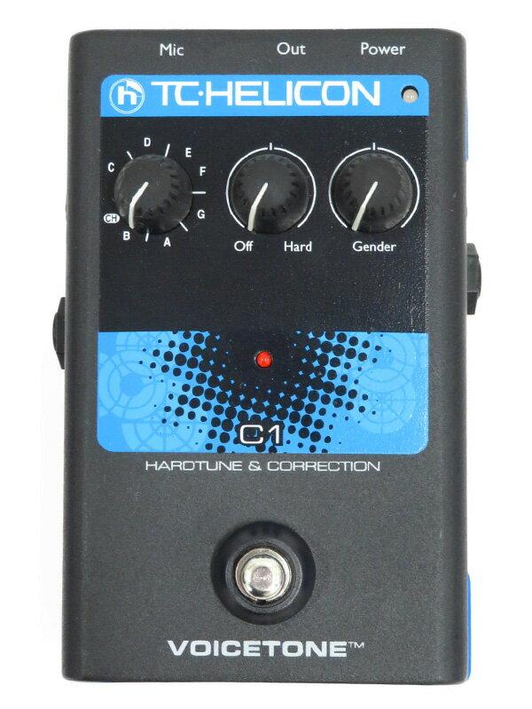 【T.C.HELICON】ティーシーヘリコン『ボーカルエフェクター』VOICE TONE C1 1週間保証【中古】