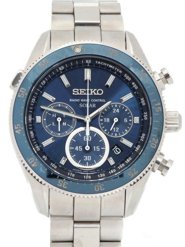 【SEIKO】セイコー『プロスペックス スピードマスター クロノグラフ』SBDM011 8B82-0AM0 34****番 メンズ ソーラー電波 1週間保証【中古】