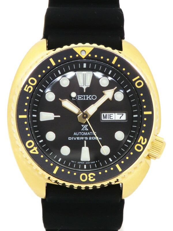 【SEIKO】【海外モデル】セイコー『プロスペックス ダイバーズ ゴールドタートル』SRPC44 4R36-04Y0 7N****番 メンズ 自動巻き 1週間保証【中古】