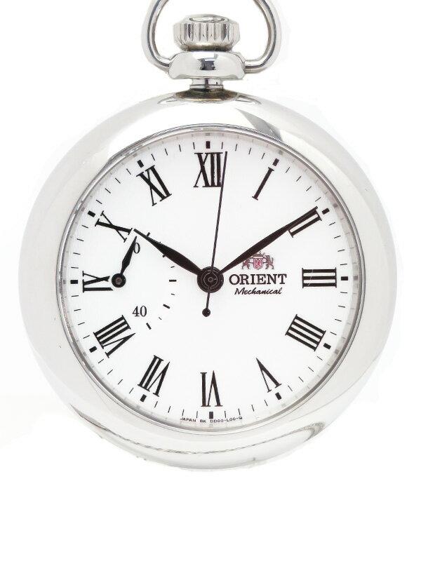 【ポケットウォッチ】【オープンフェイス】【裏スケ】オリエント『ワールドステージコレクション クラシック懐中時計』WV0031DD 手巻き 1週間保証【中古】