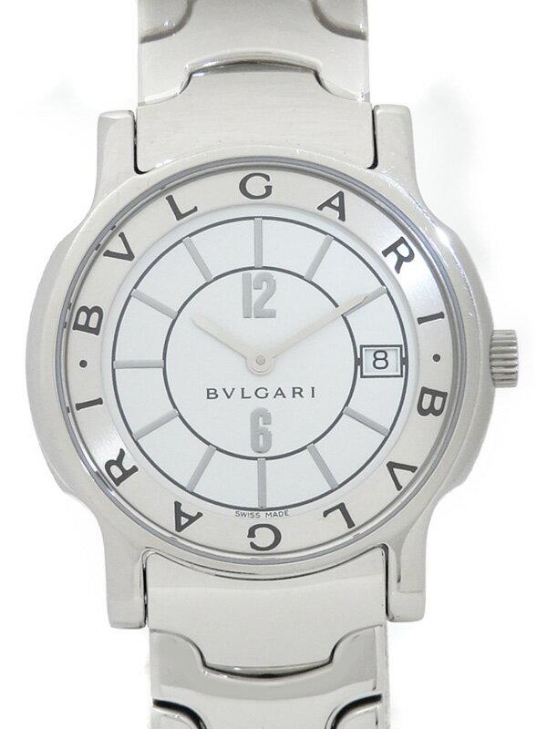 【BVLGARI】ブルガリ『ソロテンポ』ST35S ボーイズ クォーツ 1週間保証【中古】