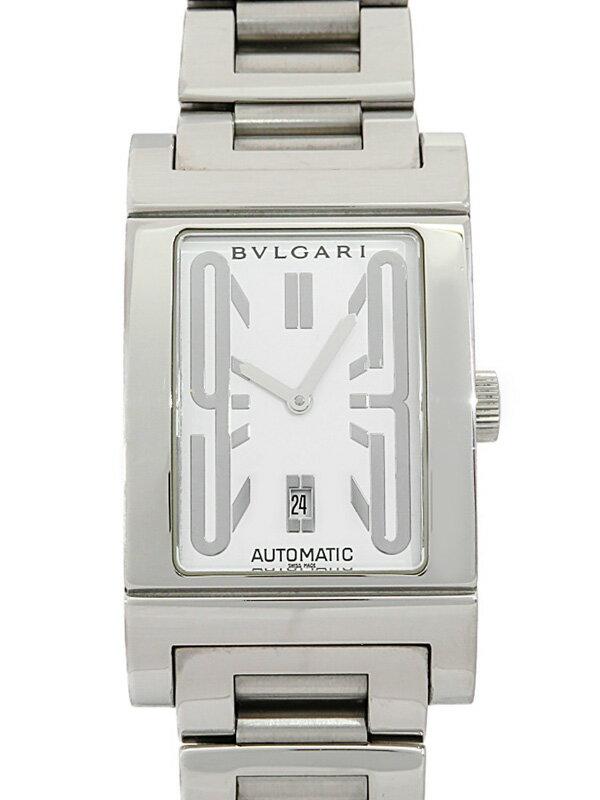 【BVLGARI】ブルガリ『レッタンゴロ』RT45S メンズ 自動巻き 1ヶ月保証【中古】