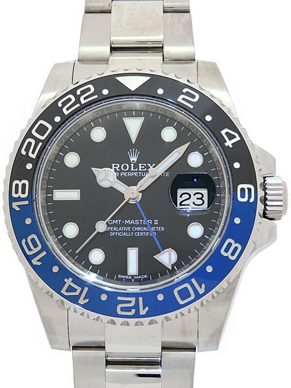 【ROLEX】【鏡面バックル】【'17年購入】【仕上済】ロレックス『GMTマスター2 青×黒ベゼル』116710BLNR ランダム番 メンズ 自動巻き【中古】