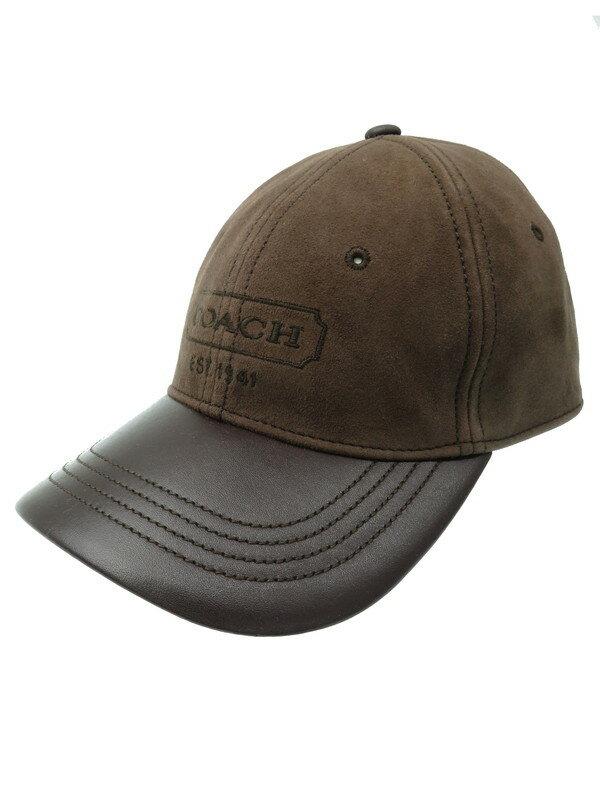 【COACH】コーチ『スウェード切替キャップ size O/S』メンズ 帽子 1週間保証【中古】