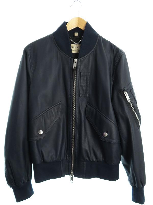 【BURBERRY】【イタリア製】【アウター】バーバリー『レザージャケット size48』ITCONLOR10SPI メンズ 革ジャン 1週間保証【中古】