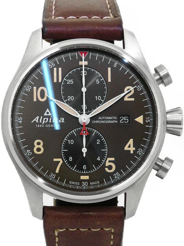 【Alpina】アルピナ『スター タイマー パイロット オートマチック』AL-725GR4S6 メンズ 自動巻き 1ヶ月保証【中古】