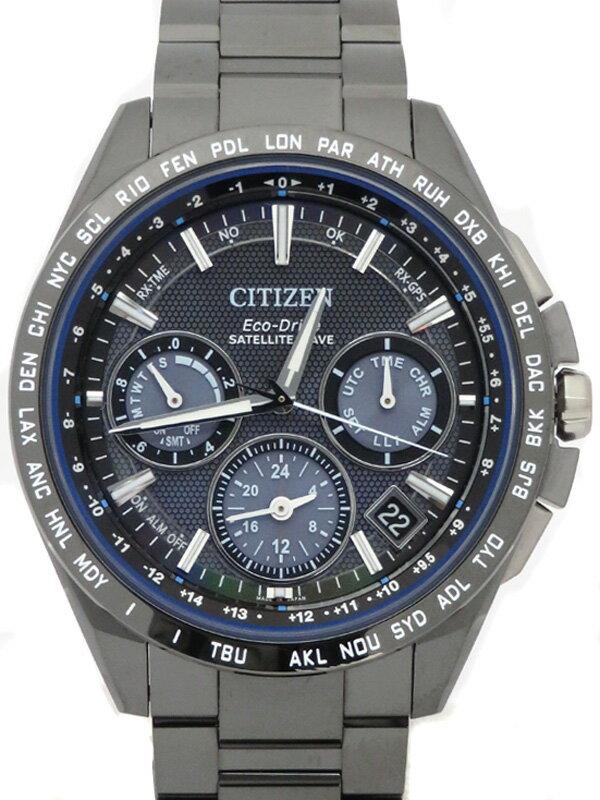 【CITIZEN】【世界限定2300本】シチズン『アテッサ サテライトウェーブ』CC9017-59L メンズ ソーラー電波GPS 3ヶ月保証【中古】