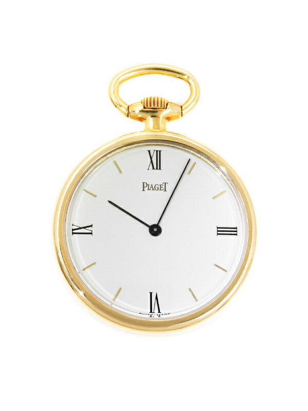 【PIAGET】【YG】【オープンフェイス】【内部点検済】ピアジェ『懐中時計 ポケットウォッチ』メンズ 手巻き 3ヶ月保証【中古】