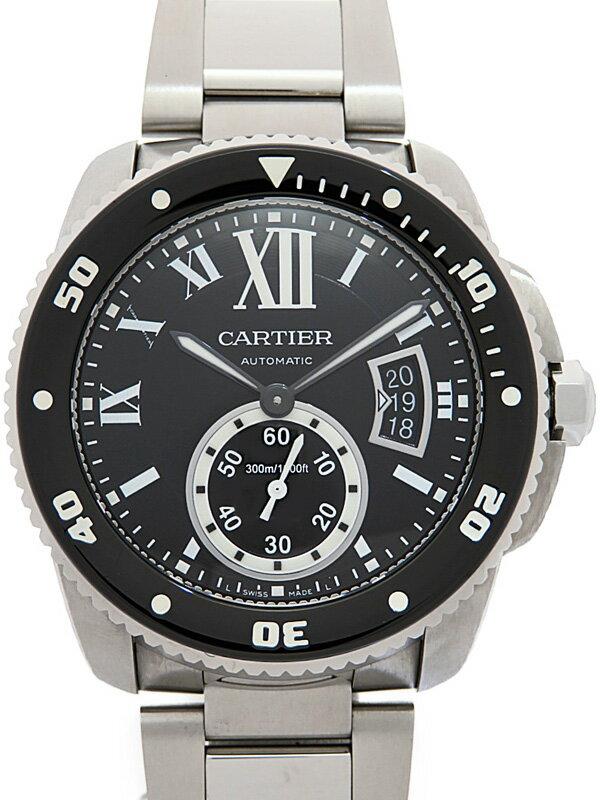 【Cartier】カルティエ『カリブル ドゥ カルティエ ダイバー』W7100057 メンズ 自動巻き 6ヶ月保証【中古】