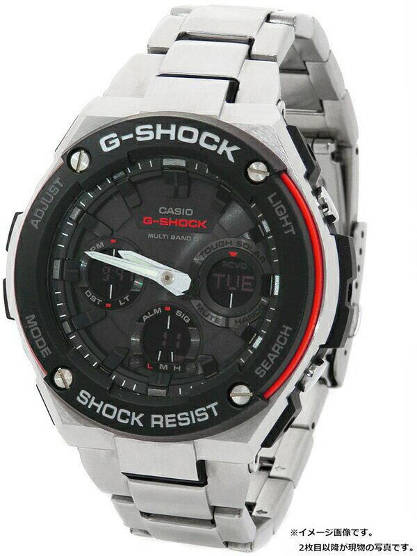 【CASIO】【G-SHOCK】【'18年購入】カシオ『Gショック Gスチール』GST-W100D-1A4 メンズ ソーラー電波クォーツ 1週間保証【中古】
