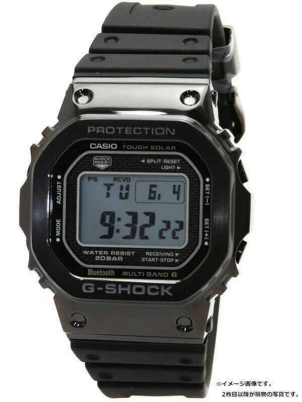 【CASIO】【G-SHOCK】【スマートフォンリンク】カシオ『Gショック』GMW-B5000G-1JF ボーイズ ソーラー電波クォーツ 1ヶ月保証【中古】