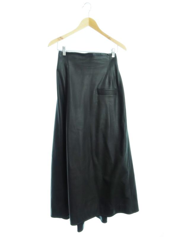 【Yohji Yamamoto】【日本製】【ボトムス】ヨウジヤマモト『レザーデザインスカート size3』NT-S02-702 レディース 1週間保証【中古】