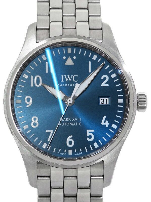 【IWC】【仕上済】インターナショナルウォッチカンパニー『パイロットウォッチ マーク18 プティプリンス』IW327014 メンズ 自動巻き 6ヶ月保証【中古】