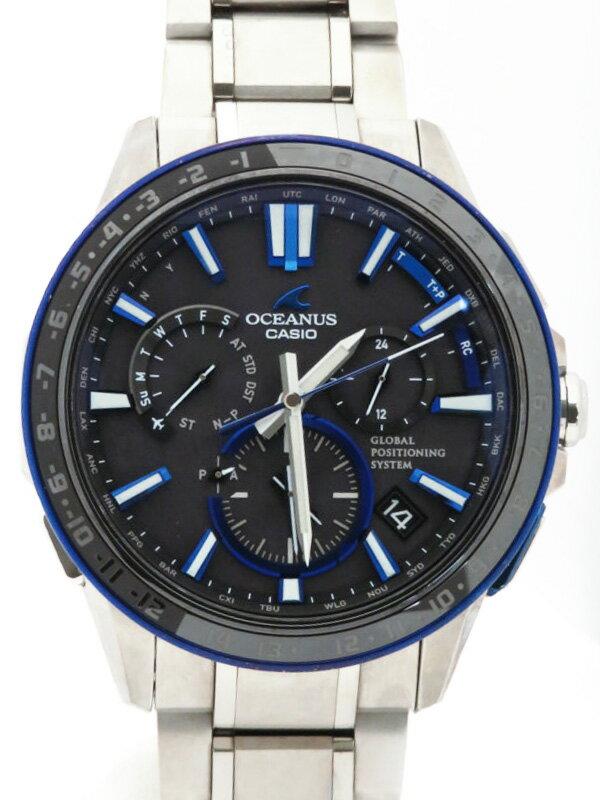 【CASIO】【OCEANUS】カシオ『オシアナス』OCW-G1200-1AJF メンズ ソーラー電波GPS 1ヶ月保証【中古】