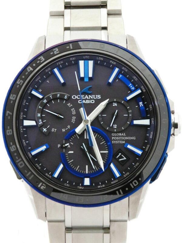 【CASIO】【OCEANUS】カシオ『オシアナス』OCW-G1200-1A メンズ ソーラー電波GPS 3ヶ月保証【中古】