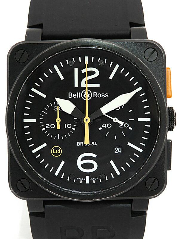【Bell&Ross】【世界限定500本】【OH済】ベルアンドロス『BR03-94 限定モデル』BR03-94 CFB ORANGE メンズ 自動巻き 3ヶ月保証【中古】