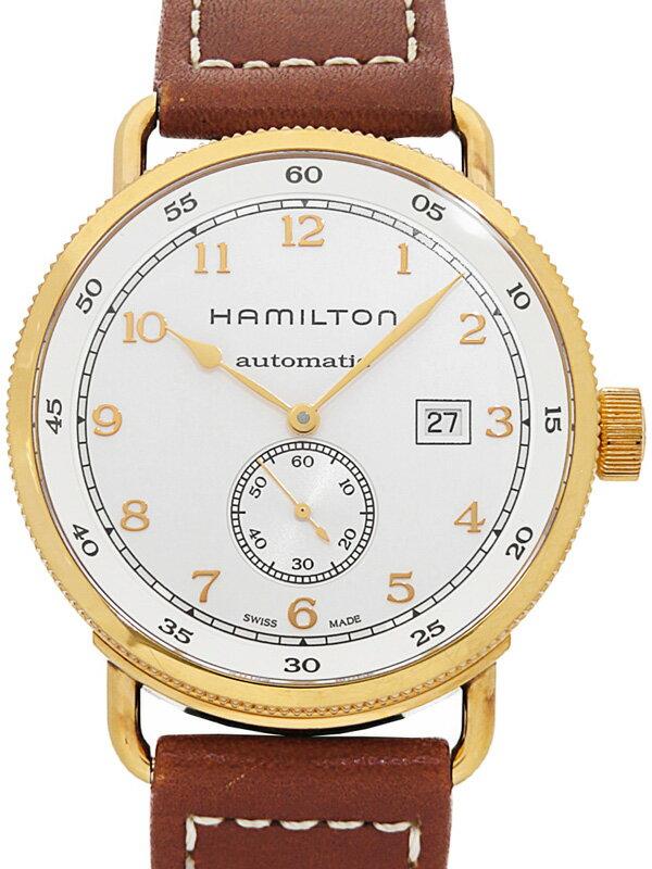 【HAMILTON】【裏スケ】ハミルトン『カーキネイビー パイオニア』H77745553 メンズ 自動巻き 1ヶ月保証【中古】