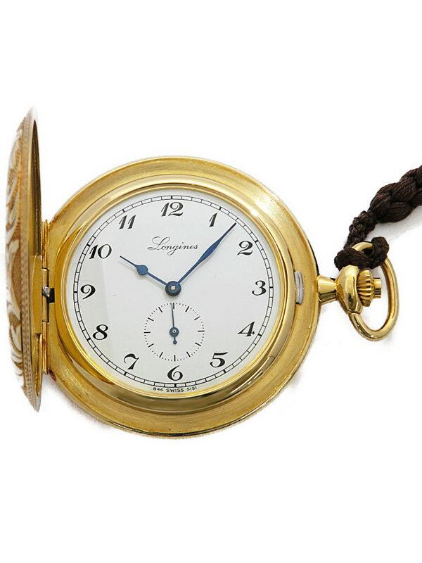 【LONGINES】【YG】【ポケットウォッチ】【OH済】ロンジン『ロンジン150年記念 懐中時計』メンズ 手巻き 3ヶ月保証【中古】