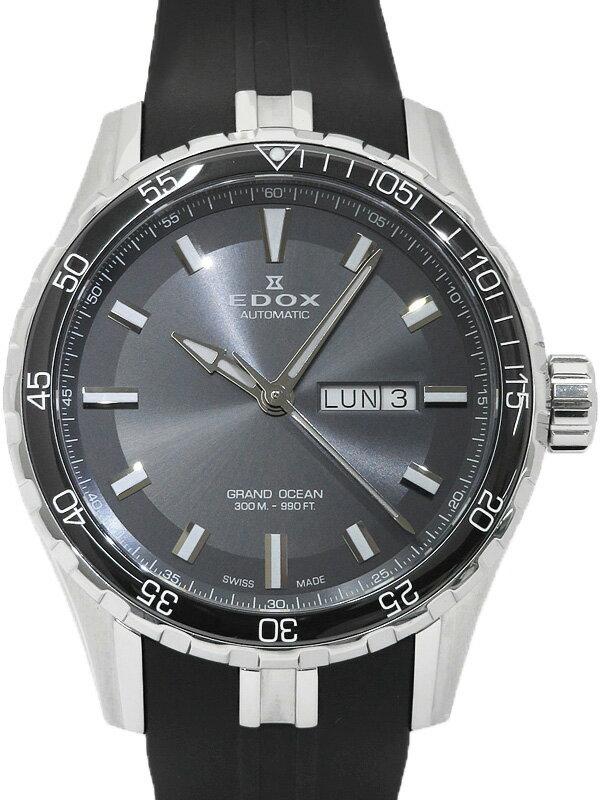 【EDOX】【裏スケ】【OH済】エドックス『グランドオーシャン』88002-3CA-NIN メンズ 自動巻き 1ヶ月保証【中古】