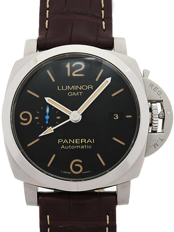 【PANERAI】【裏スケ】【'18年購入】パネライ『ルミノール 1950 3デイズ GMT』PAM01320 T番'17年製 メンズ 自動巻き 3ヶ月保証【中古】