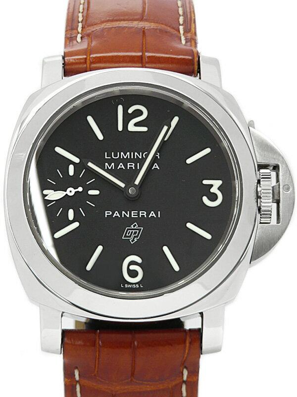 【PANERAI】パネライ『ルミノール マリーナ ロゴ 44mm』PAM00005 G番'04年製 メンズ 手巻き 3ヶ月保証【中古】