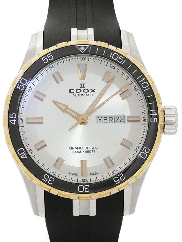 【EDOX】【裏スケ】エドックス『グランドオーシャン』88002-357RCA-AIR メンズ 自動巻き 1ヶ月保証【中古】