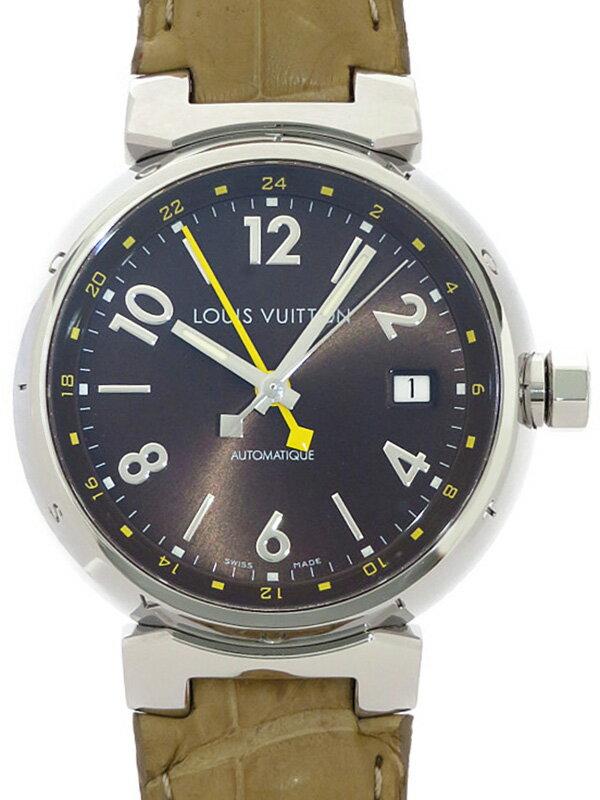 【LOUIS VUITTON】【仕上済】ルイヴィトン『タンブール GMT』Q1131 メンズ 自動巻き 3ヶ月保証【中古】