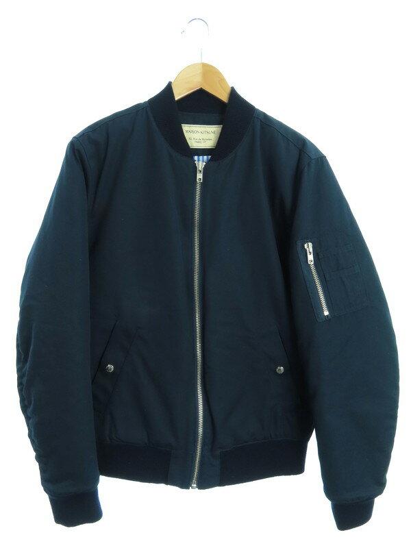 【MAISON KITSUNE】【アウター】メゾンキツネ『中綿ジャケット sizeL』KML-0452-B メンズ ブルゾン 1週間保証【中古】