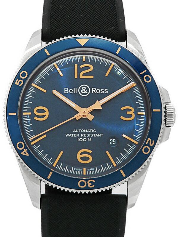 【Bell&Ross】【裏スケ】【内部点検済】ベルアンドロス『BRV2-92 アエロナバル 』BRV292-BU-ST/SCA メンズ 自動巻き 3ヶ月保証【中古】