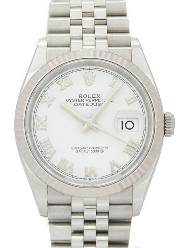 【ROLEX】【ホワイトローマン】【'19年購入】ロレックス『デイトジャスト36』126234 ランダム番 メンズ 自動巻き 12ヶ月保証【中古】