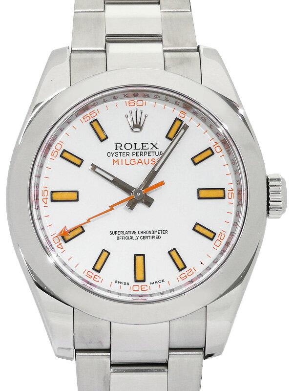 【ROLEX】【仕上済】ロレックス『ミルガウス』116400 M番'07年頃製 メンズ 自動巻き 12ヶ月保証【中古】