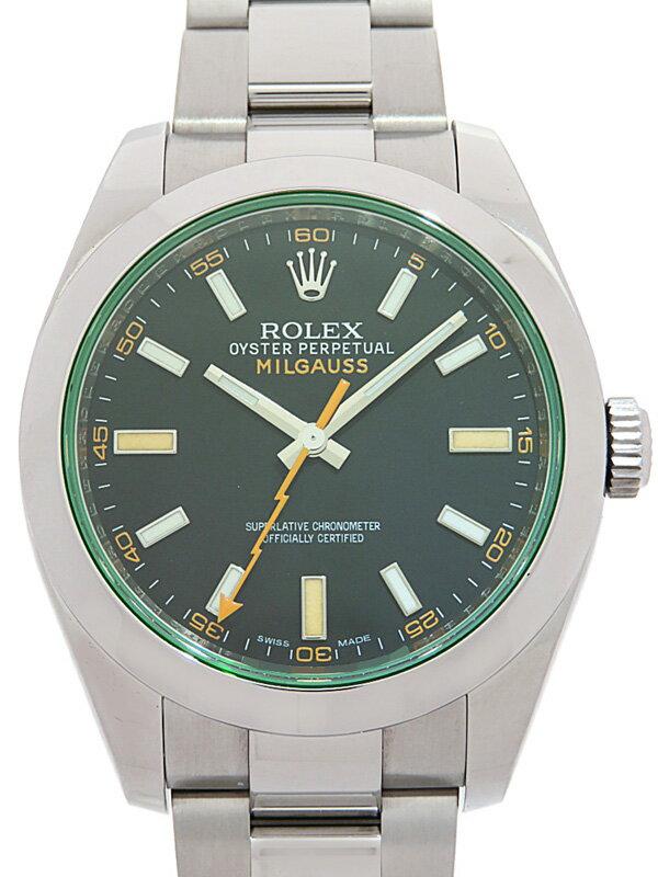 【ROLEX】【'12年購入】【仕上済】ロレックス『ミルガウス グリーンガラス』116400GV ランダム番 メンズ 自動巻き 12ヶ月保証【中古】