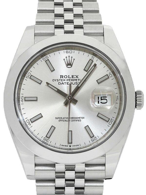【ROLEX】【'19年購入】【仕上済】ロレックス『デイトジャスト41』126300 ランダム番 メンズ 自動巻き 12ヶ月保証【中古】