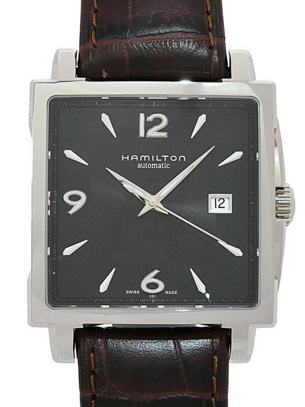 【HAMILTON】【裏スケ】ハミルトン『ジャズマスター スクエアオート』H32415535 メンズ 自動巻き 1週間保証【中古】