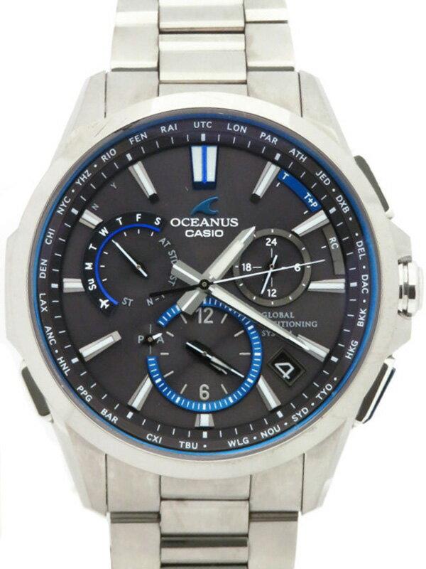 【CASIO】【OCEANUS】カシオ『オシアナス』OCW-G1100T-1AJF メンズ ソーラー電波GPS 1ヶ月保証【中古】