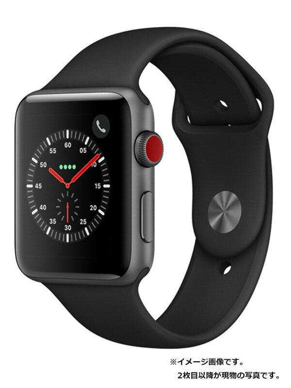 【Apple】【アップルウォッチ シリーズ3】アップル『Apple Watch Series 3 GPS+Cellularモデル 42mm』MQKN2J/A メンズ スマートウォッチ 1週間保証【中古】