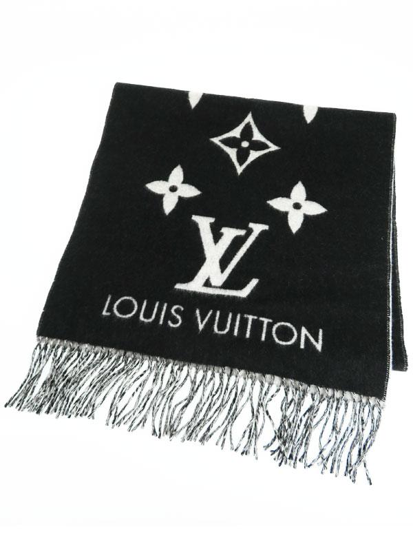 【LOUIS VUITTON】【イタリア製】ルイヴィトン『エシャルプ・レイキャビック』M71040 レディース マフラー 1週間保証【中古】